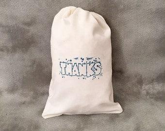 Thanks - Favors - Gift Bags - Cotton Muslin - 5x7 - Set of 10 - Thank You bags - Wedding Reception - Teacher - Appreciation - RAK -