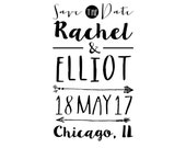A Rachel Save the Date stamp series