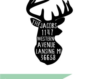 Deer Return Address Stamp