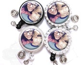 Photo Lanyard Badge Reel - Personalized Custom Picture or Photograph Retractable ID Holder (A000)