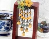Tangerine Hydrangea blossom hair pick (HP)