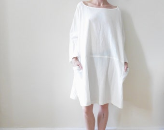 Simple White Oversized Dress
