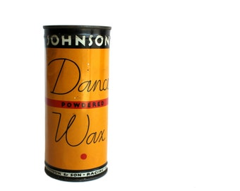 Vintage Johnson Dance Wax Tin Art Deco Collectible