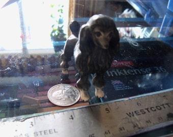 vintage dog figurine black poodle ceramic