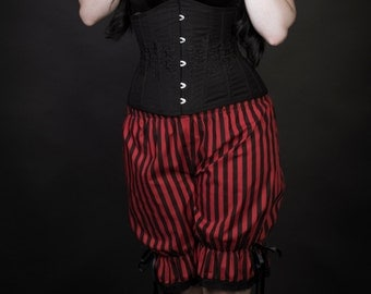 size uk 8 red and black stripe bloomers