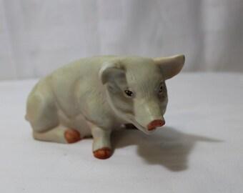 Vintage Bisque Porcelain Pig