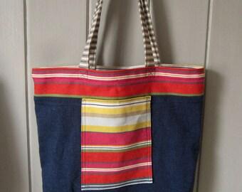 Cotton and linen shopping bag