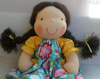 Summer doll-14 inch Waldorf style doll-READY to Ship