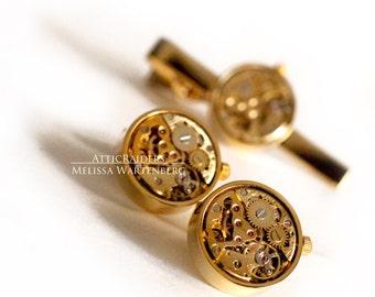Gold Wedding Cuff Links