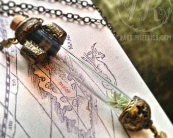 hope reliquary ~ moss & labradorite amulet