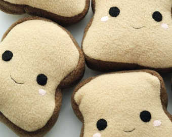 Happy Chubby Squishy Toast Plushie