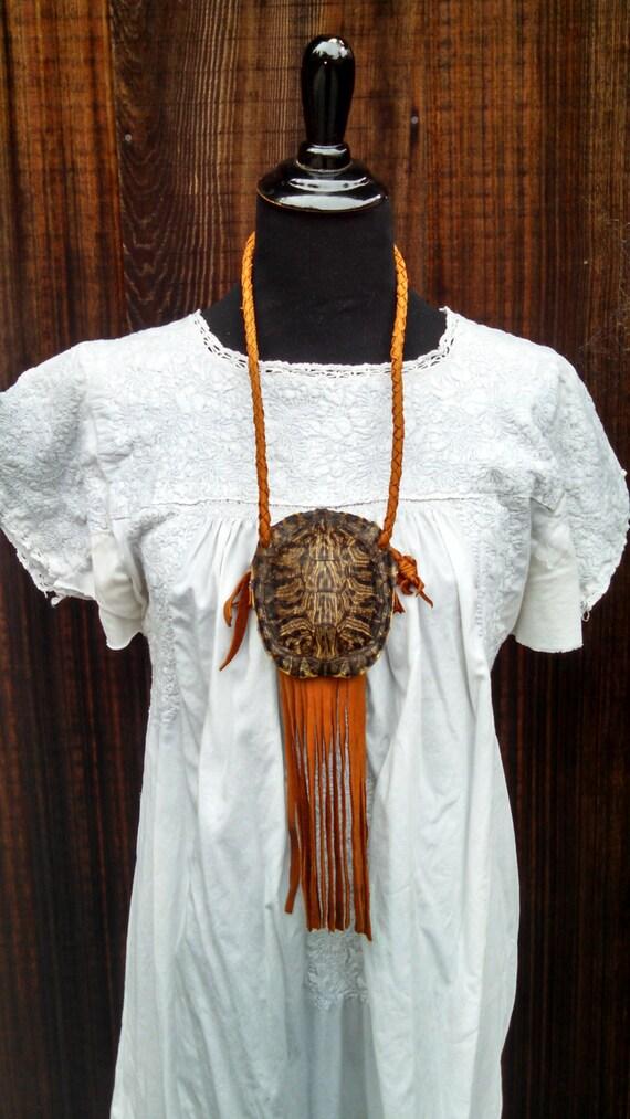 Turtle Medicine Pouch - Buckskin Native American Bag