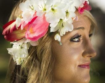 Annabelle Floral Crown Silk Flower Crown