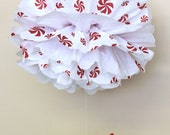 Peppermint pom pom kit   baby shower first birthday party decoration Winter Wonderland ONEderland candy cane red white