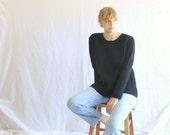 vintage 90s chunky black cashmere sweater Calvin Klein