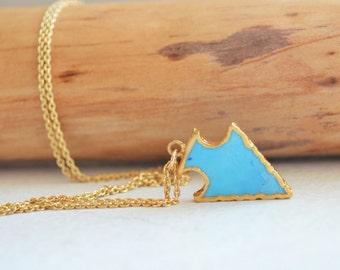 Turquoise Arrowhead , Arrow Necklace , Trendy Necklace , Turquoise Necklace , Boho Necklace , Arrow Jewelry