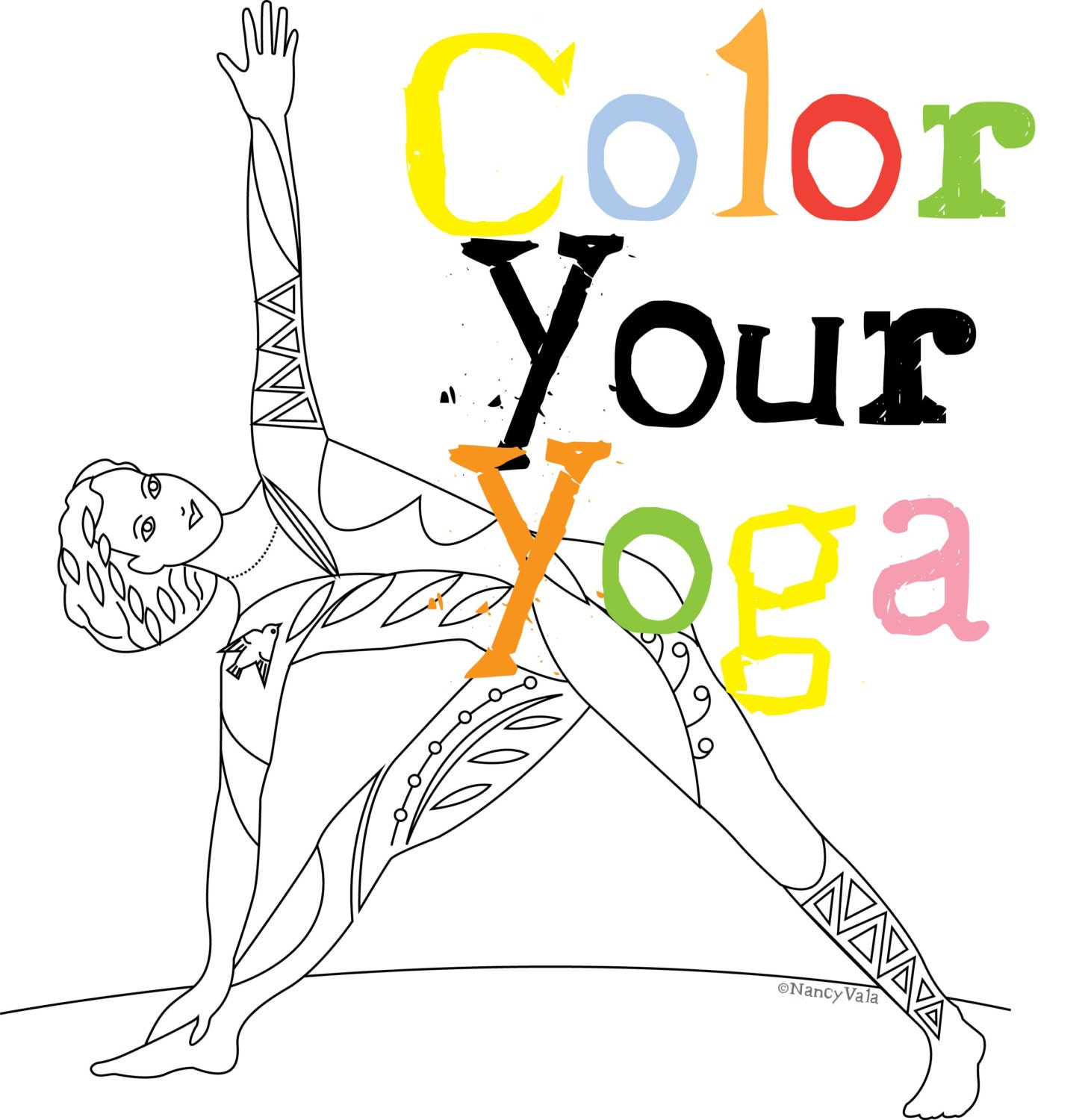 COLOR YOUR YOGA Coloring Book Yoga Poses Tattoo Yogis
