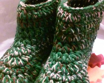 Crochet Ankle Boots, Slipper Boots, Houseshoes, Womens Slippers