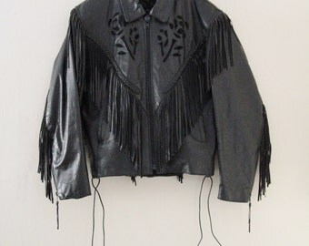 80's Fringed Leather Jacket