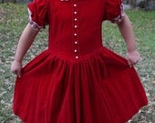 CLARA - 1980s Velvet Toddler Girl Dress Christmas Holiday Party Classic Retro Cute Fancy Glam Lace Puffed Sleeve Victorian Princess 3 4 T