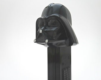 Star Wars Darth Vader PEZ Dispenser with 2 Packs Unopened PEZ Candy - 90's Star Wars PEZ Collectible, Darth Vader Kids Toy, Gift For Him