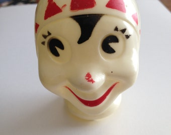Creepy Celluloid Clown/Jester Head