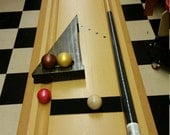 Cue Bowling Plus Mini Shuffleboard Table Top Bowling Game For 8 to 80 + Years Old.