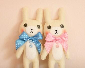 Cute Ribbon Bunny Rabbit Home Decor Animal Mini Plush