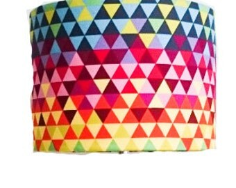 Geometric Rainbow Lampshade Barrel  ** FREE POSTAGE**
