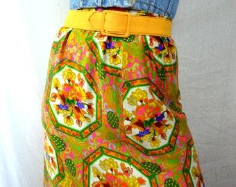 Vintage 60s Alex Colman Psychedelic Maxi Skirt