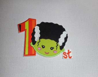 Free Shipping Ready to Ship Miss Frankenstein Fabric iron on applique