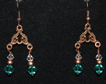 Copper Filigree Earrings