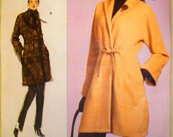 vogue todays fit pattern 1060 ~ designer sandra betzina coat ~ (2008) ~ UNCUT