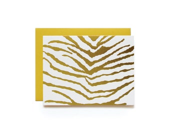 Zebra - set of 6 letterpress cards