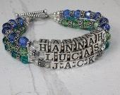 Sterling Silver Swarovski Crystal Single Color Birthstone Mother's Bracelet