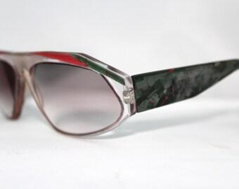 1980s 1990s Eyeglasses // 80s 90s Designer Frames // Pearlised Mosaic print