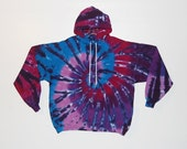 Tie Dye Hoodie Purple Spiral Tye Dye hooded Sweatshirt Adult small medium large XL hippie Grateful Dead psychedelic hoodie