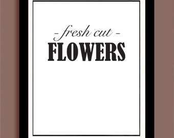Fresh Cut Flowers / Wall Art Decor / INSTANT DOWNLOAD