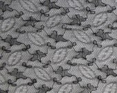 """Antique Black Lace Remnant - Length~ 40"""" or 102cm. Width~ 14"""" or 35.5cm - craft or re-use - Dolls"""