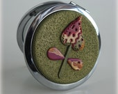 Polymer Clay Embellished Compact Mirror, Purse Accessories