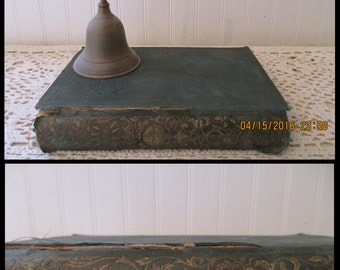 antique book, Life On the Ocean; or, Twenty Years at Sea: by George Little.  (c) 1846. Green Cloth HC, Gold Gilt. Shabby, distressed prop.