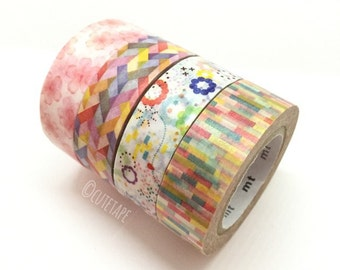 Japanese Pretty Washi Tape gift set of 4 cute tape sets