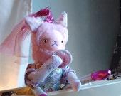 Pink Princess Party Cat Softie Plush Doll