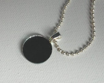 Mirror  Pendant - Unique Reflective Necklace