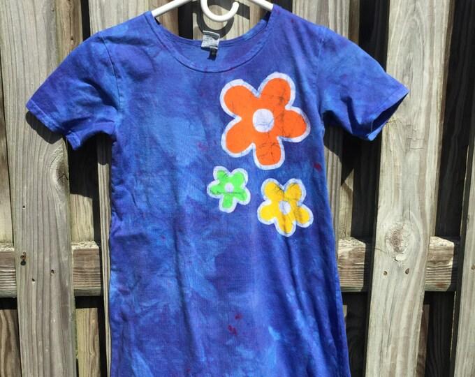 Flower Girls Dress, Girls Flower Dress, Blue Girls Dress, Blue Flowers Dress, Blue Flower Girls Dress, Batik Girls Dress (8)