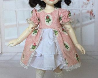 YoSD pink sweet lolita cameo dress for BJD