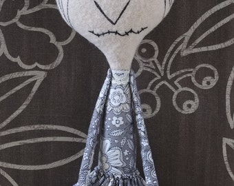 Spooky girl, cloth doll - Lillian