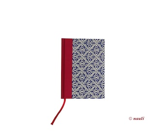 Day Planner 2017 blue wax batik red spine