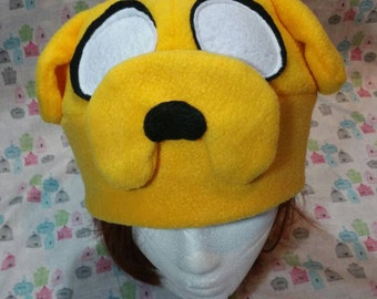 Adventure Time Jake the Dog Inspired Fleece Hat Handmade