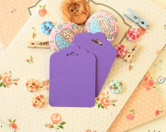 Amethyst Purple fancy ornate scallop tags